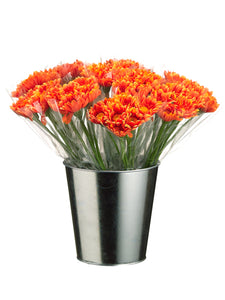 "15"" Gerbera Daisy Bundle in Tin Bucket (12 ea./1 Style 1 Color) Orange (pack of 12)"