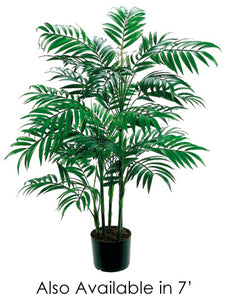 7' New Bamboo Palm Tree w/1802 Leaves in Pot Green (pack of 2)