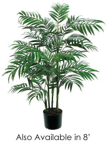 8' New Bamboo Palm Tree w/2414 Leaves in Pot Green (pack of 2)