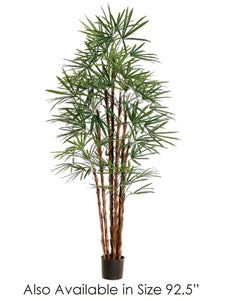 "92.5"" Honey Rhapis Palm Tree x19 w/1655 Leaves in Pot Green (pack of 1)"