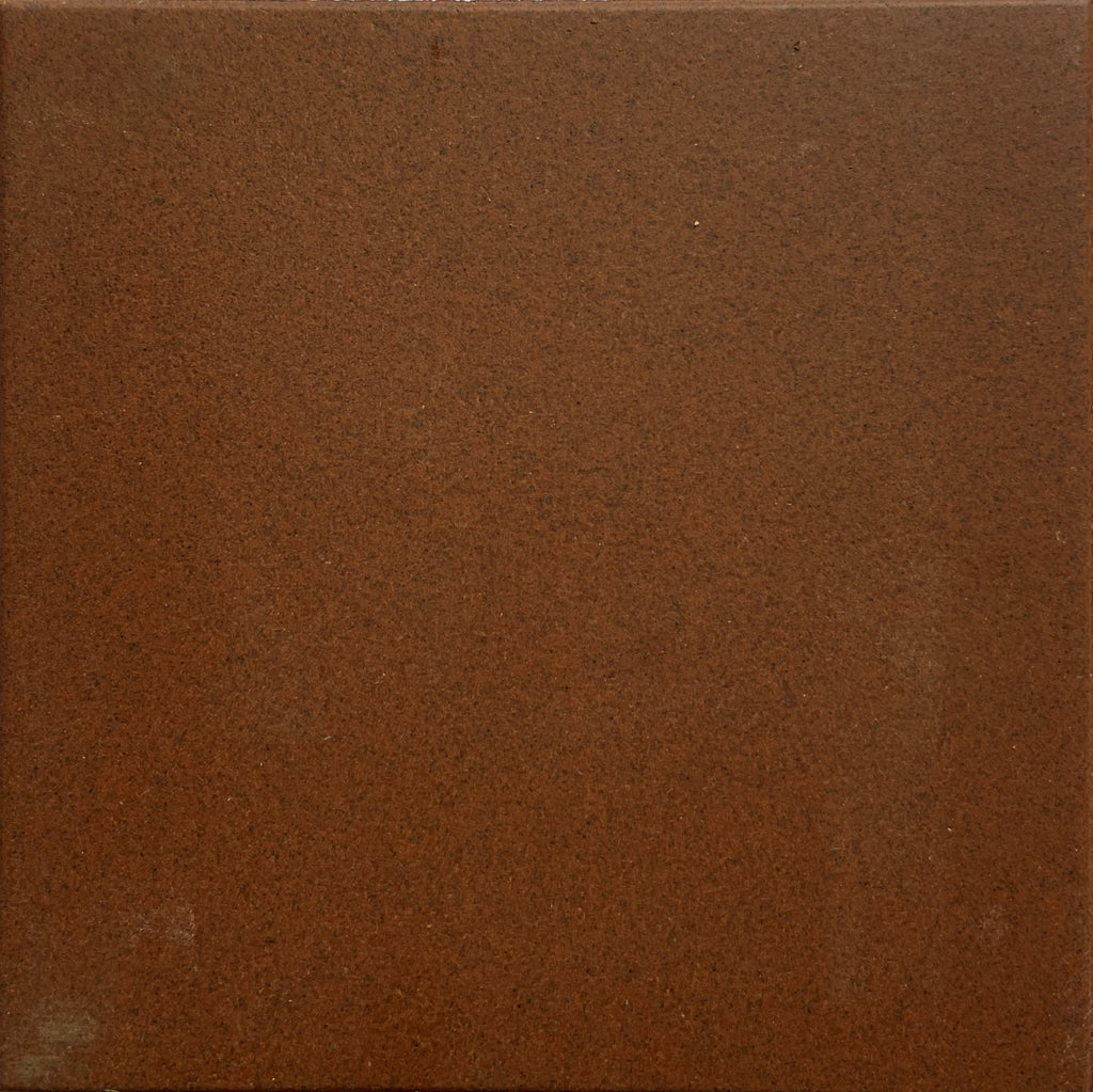 1G5 Paray France Ceramic Tile Unglazed 100mm Wall Floor Bathroom Matte Brown 100mm - Aussie Supply Company