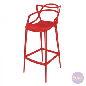 Replica Phillipe Starck Masters Bar Stool RED Chair - Aussie Supply Company