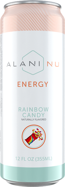 Energy drinks rainbow candy front