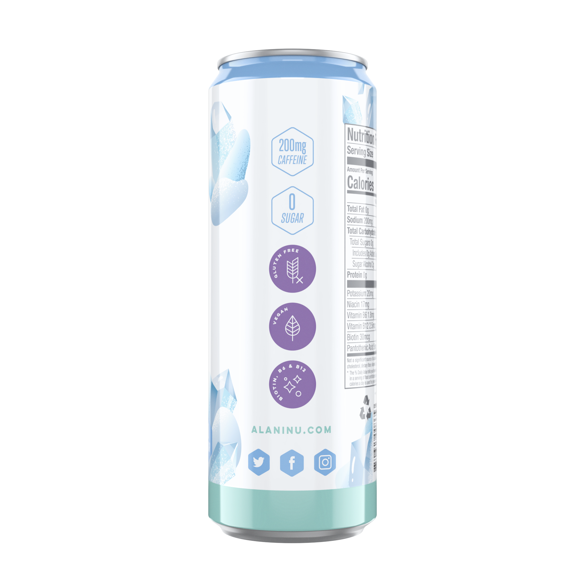 Energy Drinks (12pk) - Arctic White