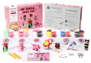 The Magical Craft Box | 24 Color Premium Air Dry Modeling Clays | A Fantastic Art and Craft Project Set For Kids | 120 Projects Tutorials
