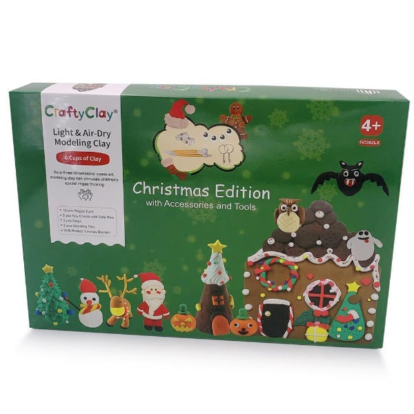 "The ""CHRISTMAS EDITION"" Air Dry Modeling Clay Set for Kids - CraftyClay"