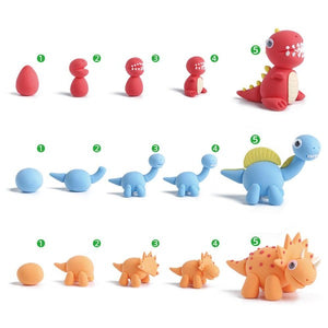 "The ""BABY DINO BROS"" Air Dry Modeling Clay Set for Kids - CraftyClay"