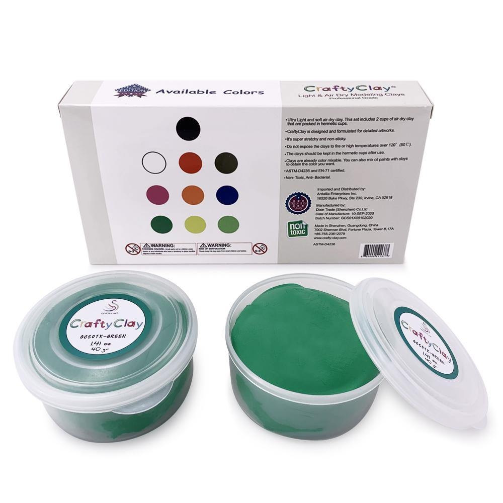 GREEN Air Dry Art Clay