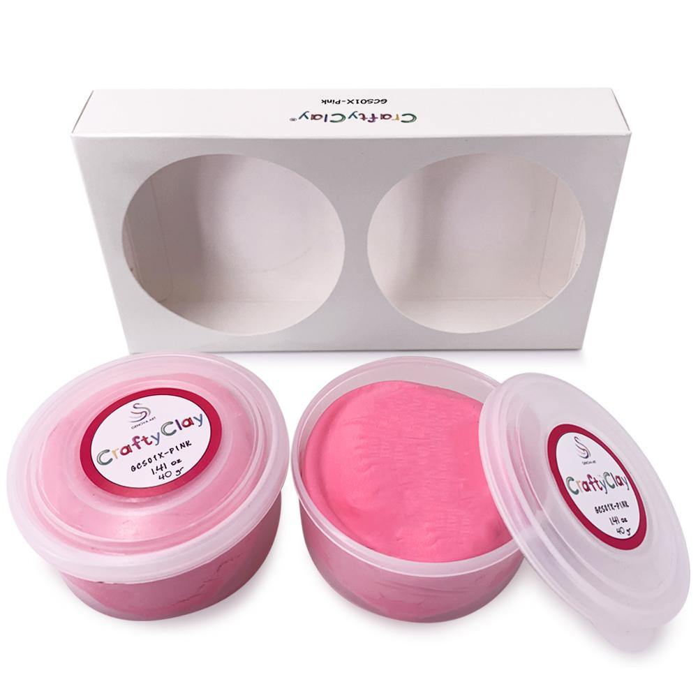 PINK Air Dry Art Clay - CraftyClay