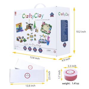 GCS12 | CRAFTY CLAY Craft Kit + 2 packs Refill Packs(SPECIAL GIFT)(35% OFF)