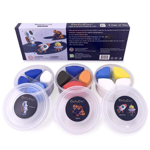 """SPACECRAFT"" Air Dry Modeling Clay Set for Kids - CraftyClay"