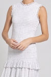 Rebecca Vallance Misty Midi Dress in White