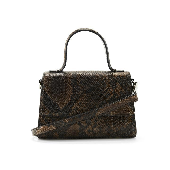 Nakedvice The Hilton Bag in Brown Snake