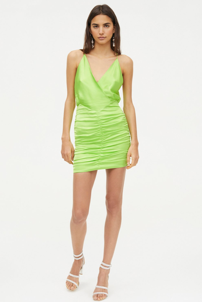 Manning Cartell Game Changer Mini Dress in Acid Green