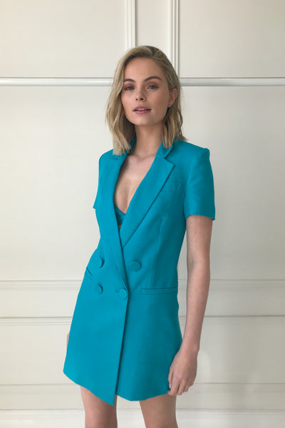 By Johnny Eden Cut-Off Blazer in Electric Blue