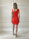 By Johnny Red Rush Asymmetric Mini Dress in Red