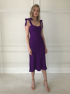 By Johnny Prince Bias Slip Dress in Prince Purple