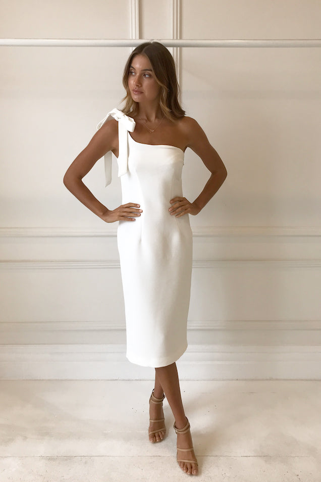 By Johnny Lean Midi Dress in White