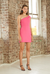 By Johnny Tied Shoulder Mini Dress in Pink
