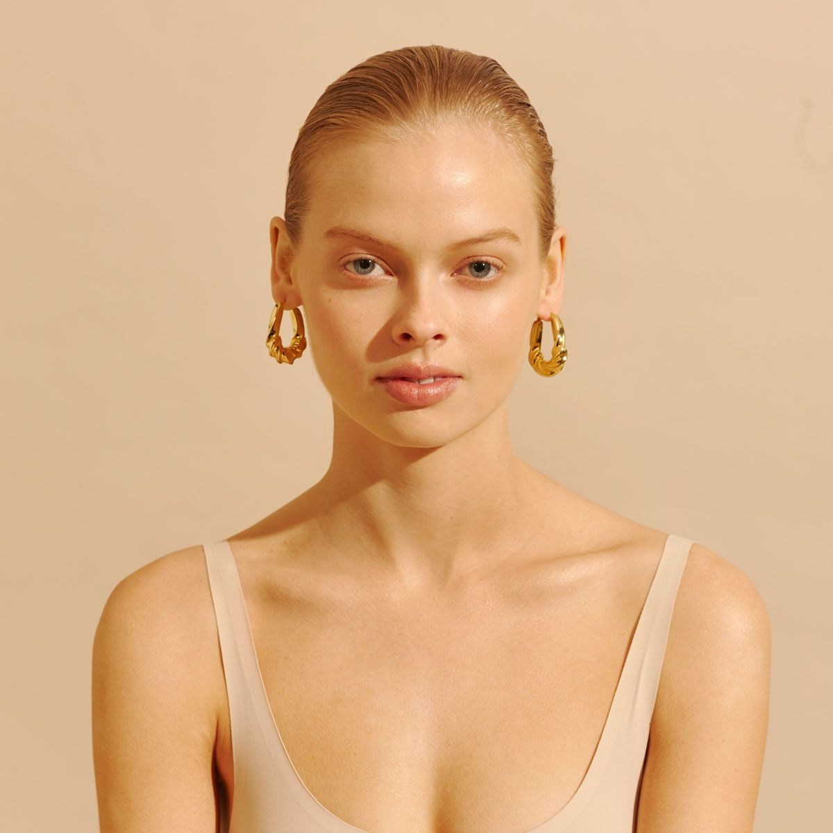 Amber Sceats Alba Earrings in Gold