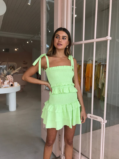 Issy Mirage Top in Key Lime