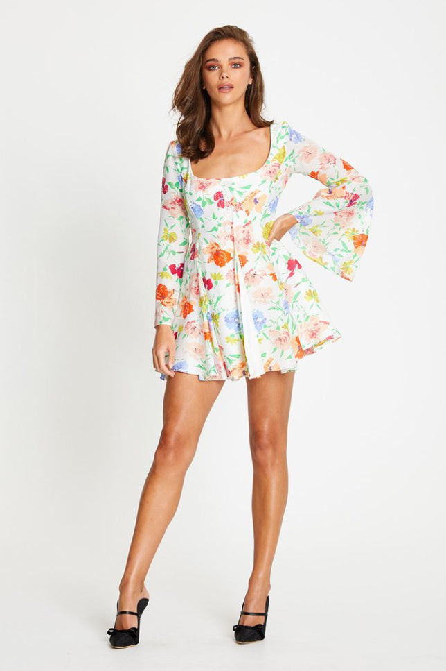 Alice McCall Picasso Mini Dress in Porcelain Floral