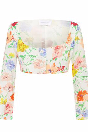 Alice McCall Picasso Top in Porcelain Floral