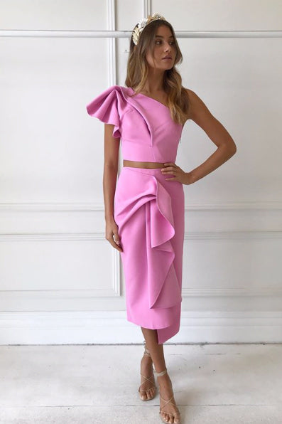 Acler Crawford Skirt in Pop Pink