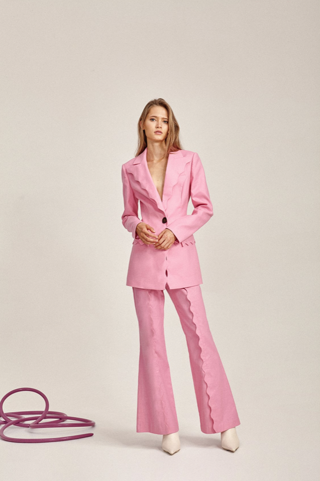 Acler Aslo Blazer in Pop Pink