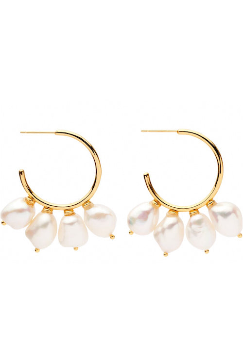 Amber Sceats Claude Earrings in Gold
