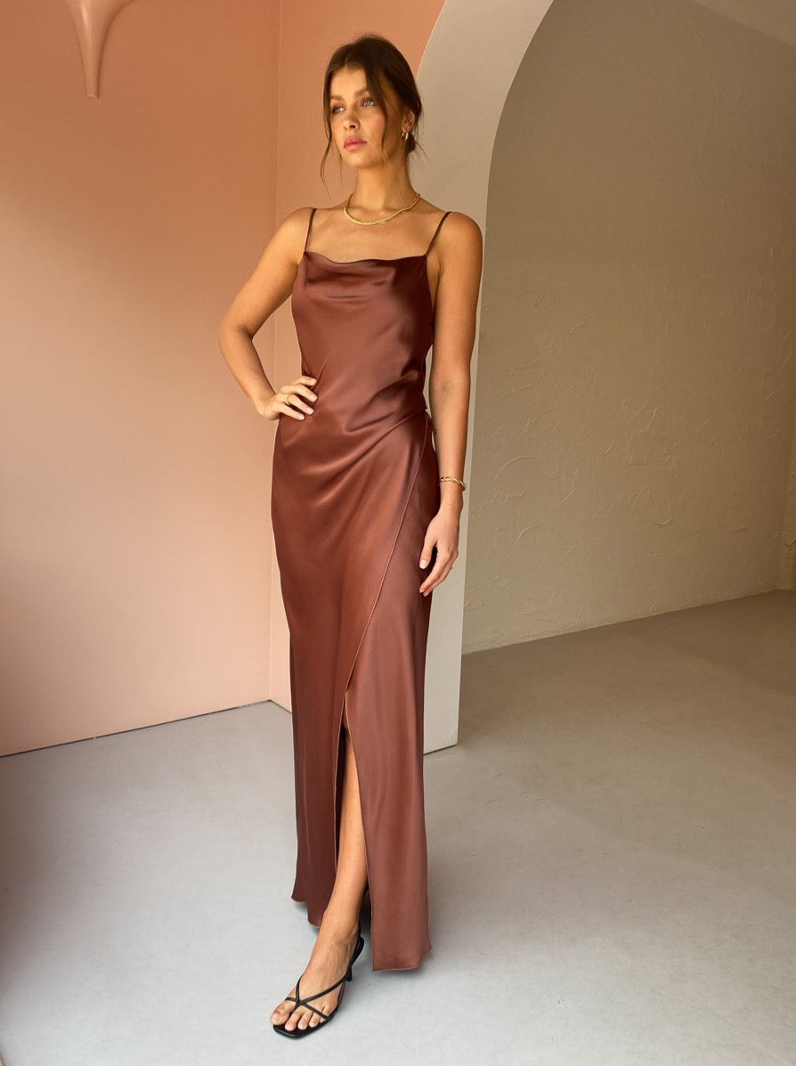 Camilla and Marc Monroe Slip Dress in Cinnamon