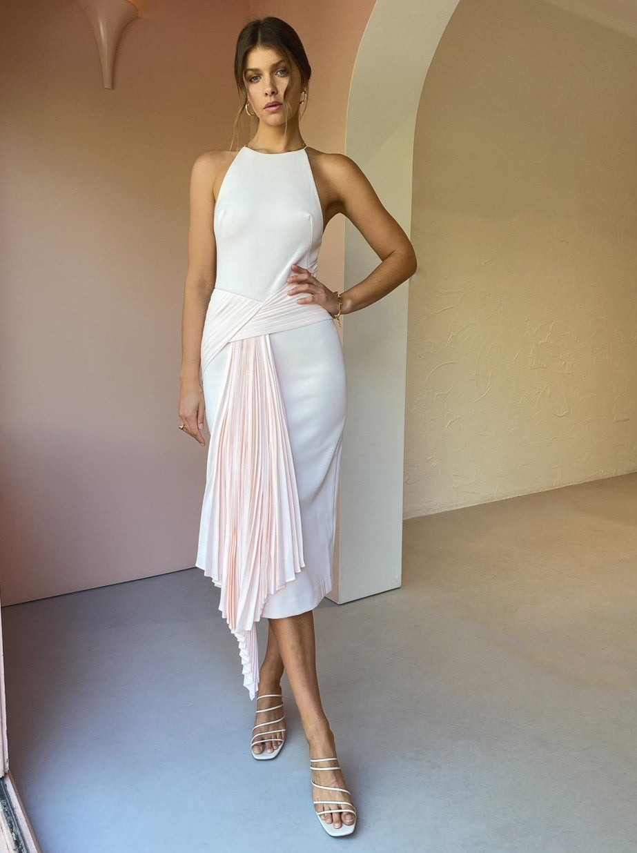 Acler Bercy Dress in Slipper Pink