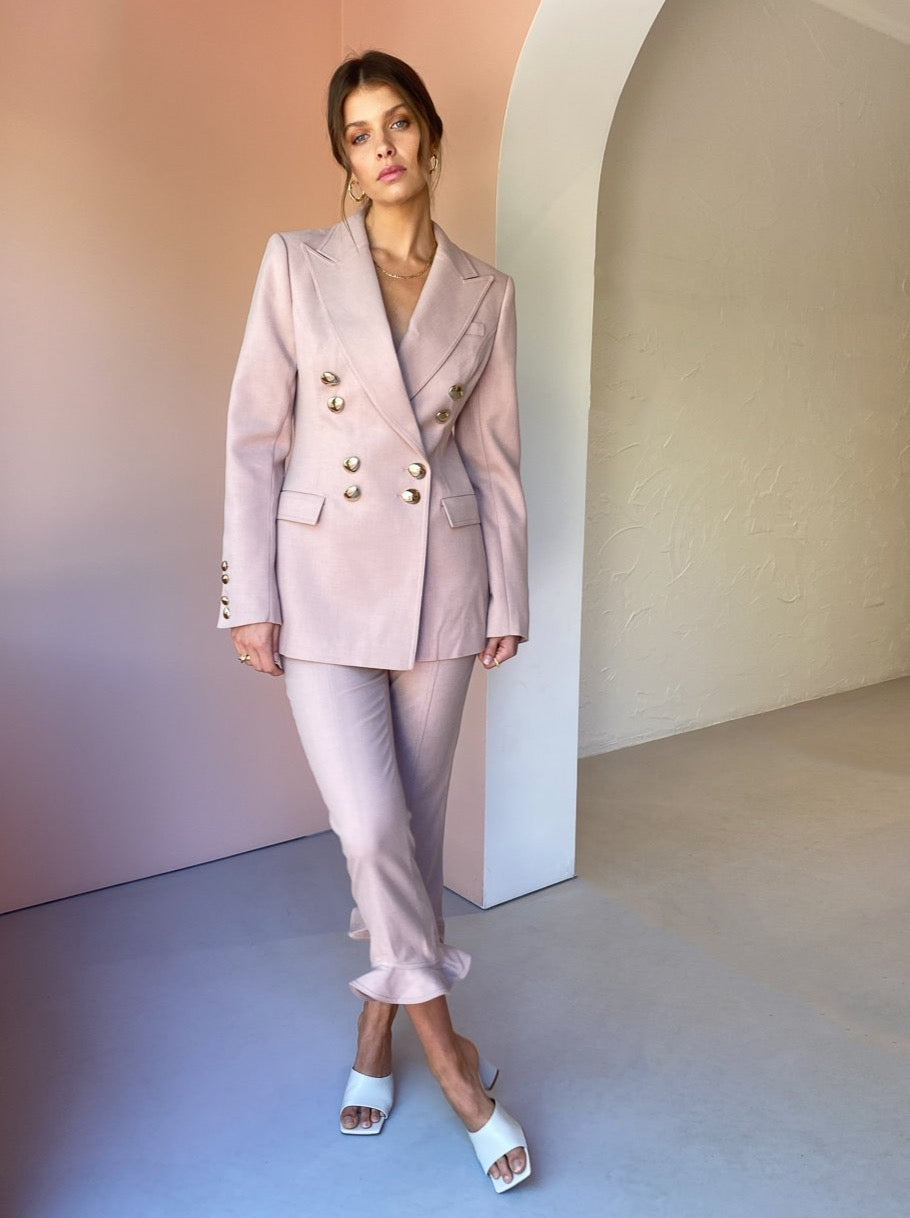 Acler Fisher Blazer in Dusty Pink