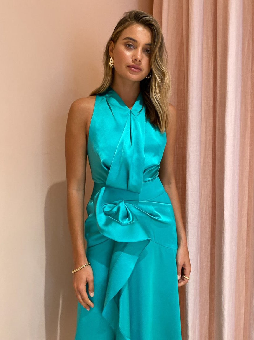 Acler Millbank Dress in Electric Green