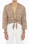 Faithfull the Brand Aira Knot Shirt in Mathiola Floral Print