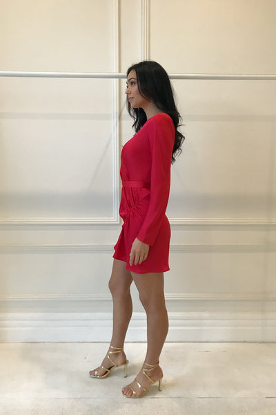 One Fell Swoop Amor Sleeved Dress in Rouge
