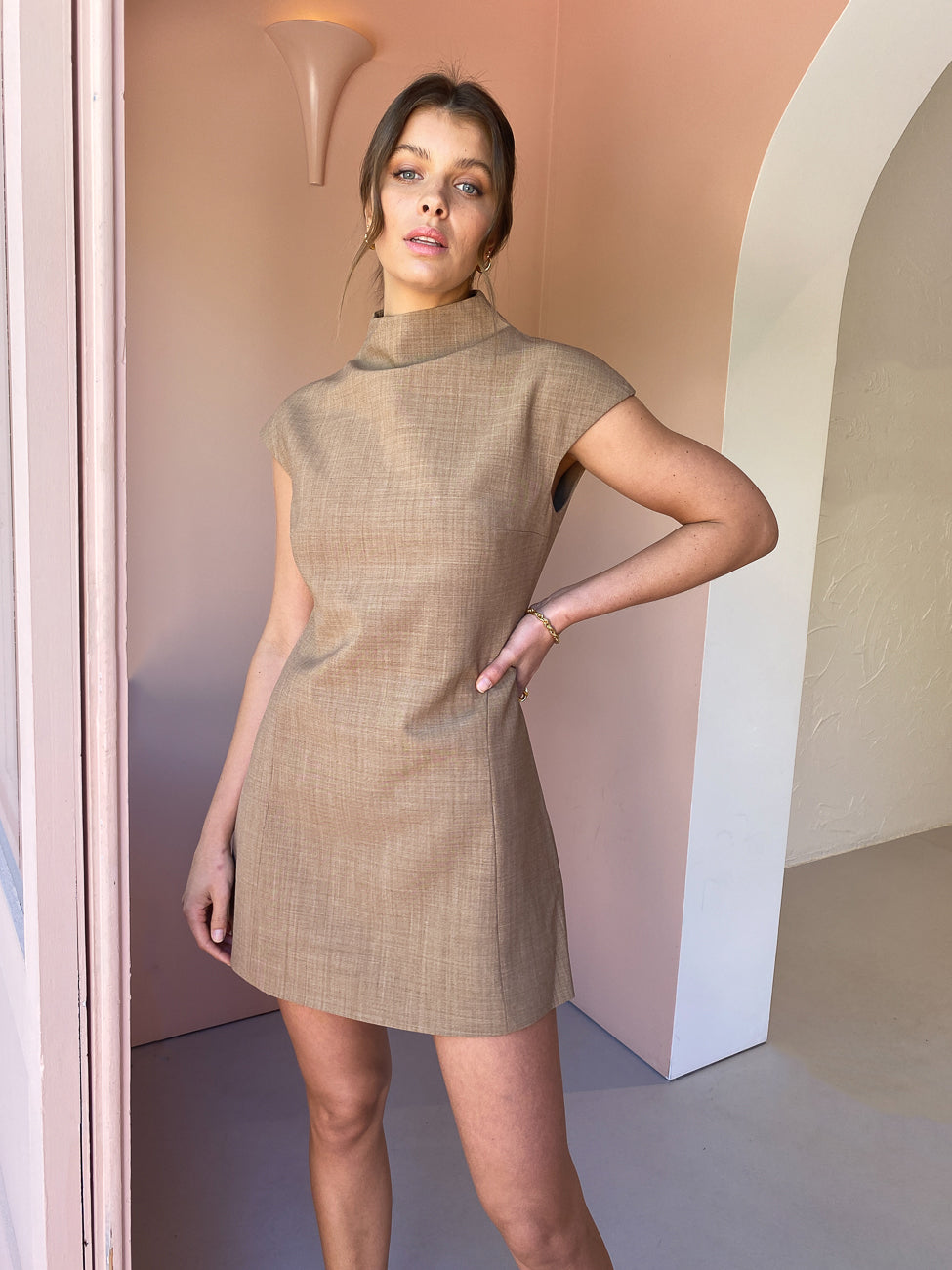 Anna Quan Karla Dress in Cinnamon