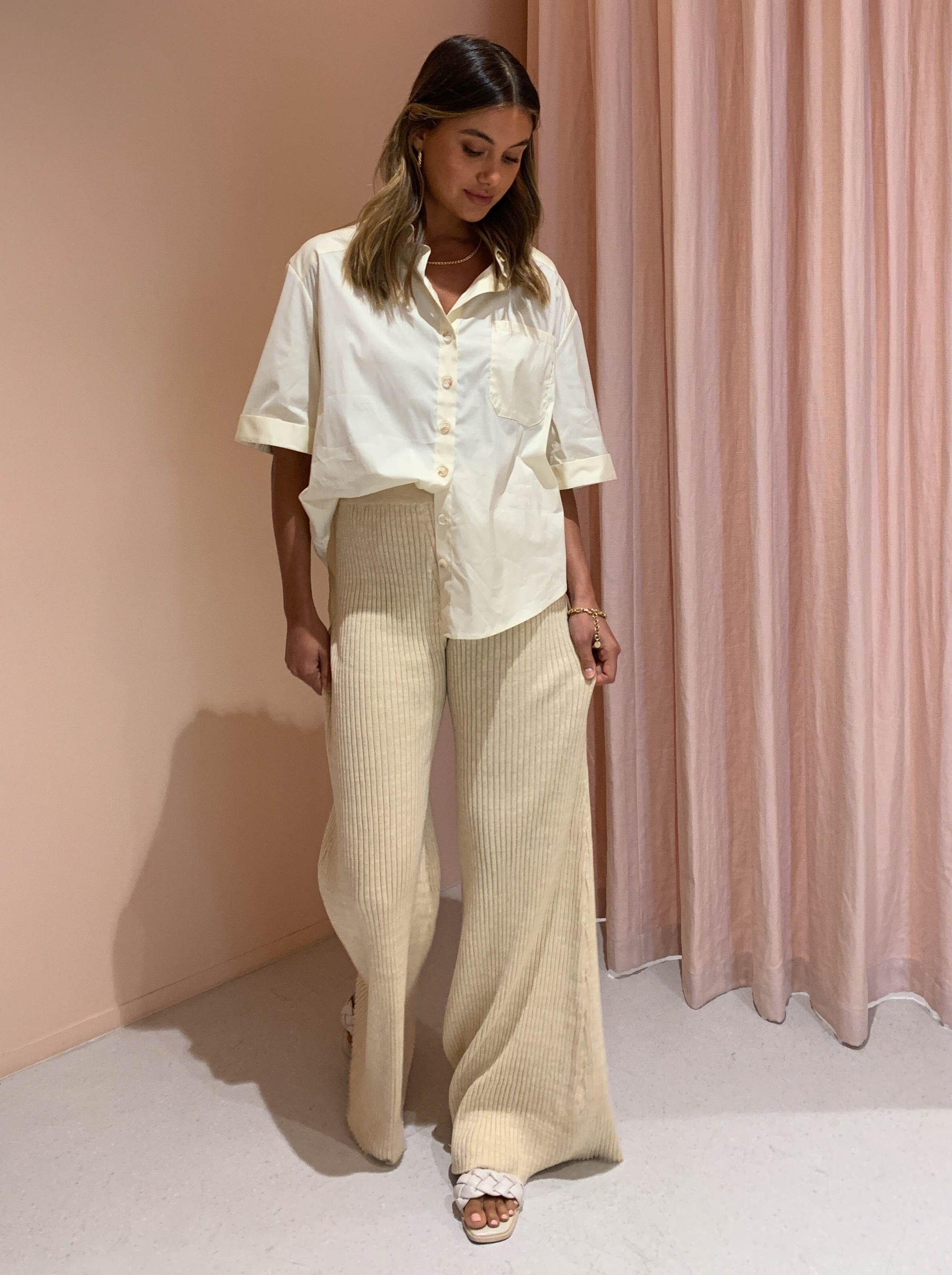 Anna Quan Rio Pants in Wheat