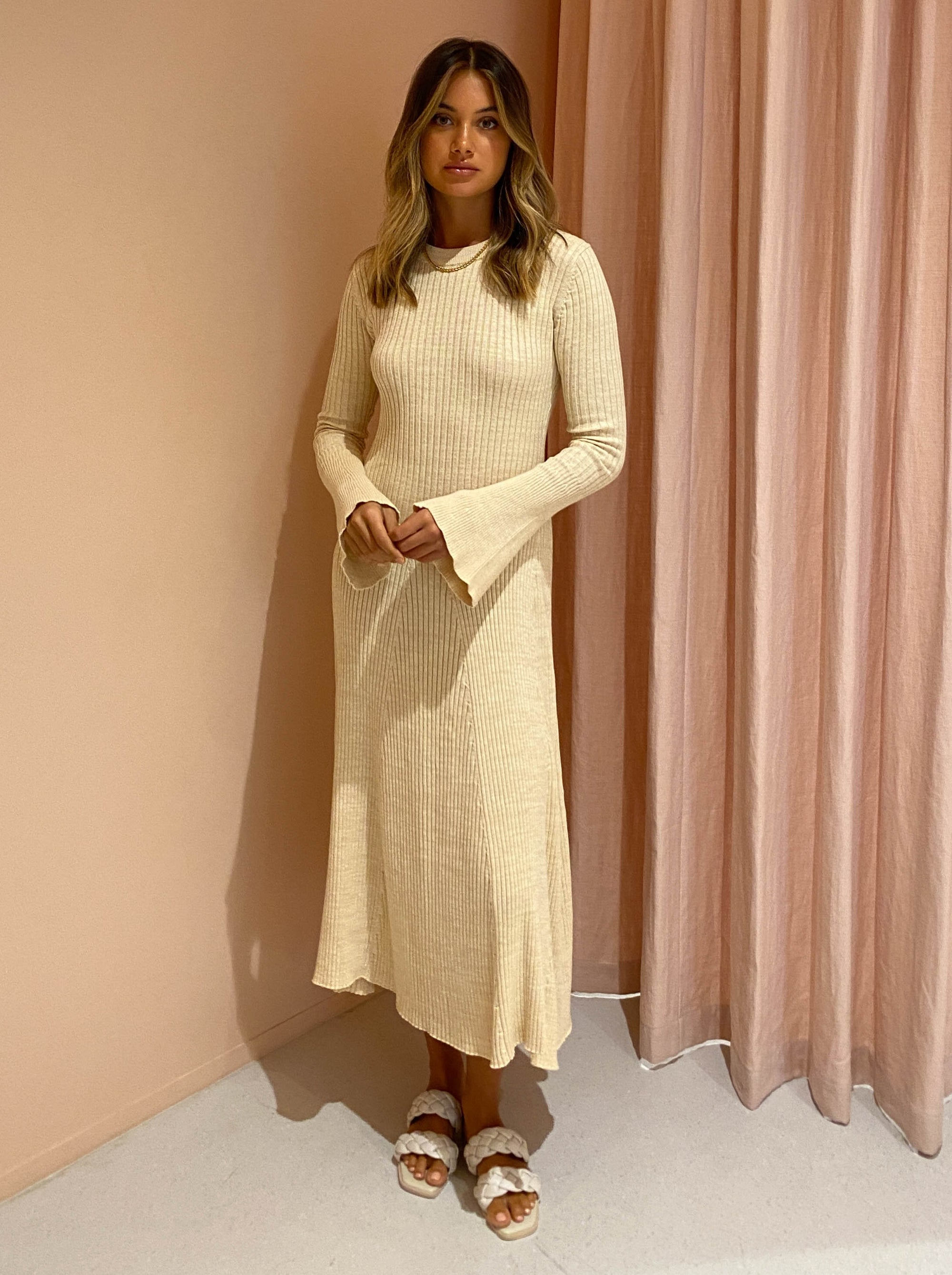 Anna Quan Isla Dress in Wheat