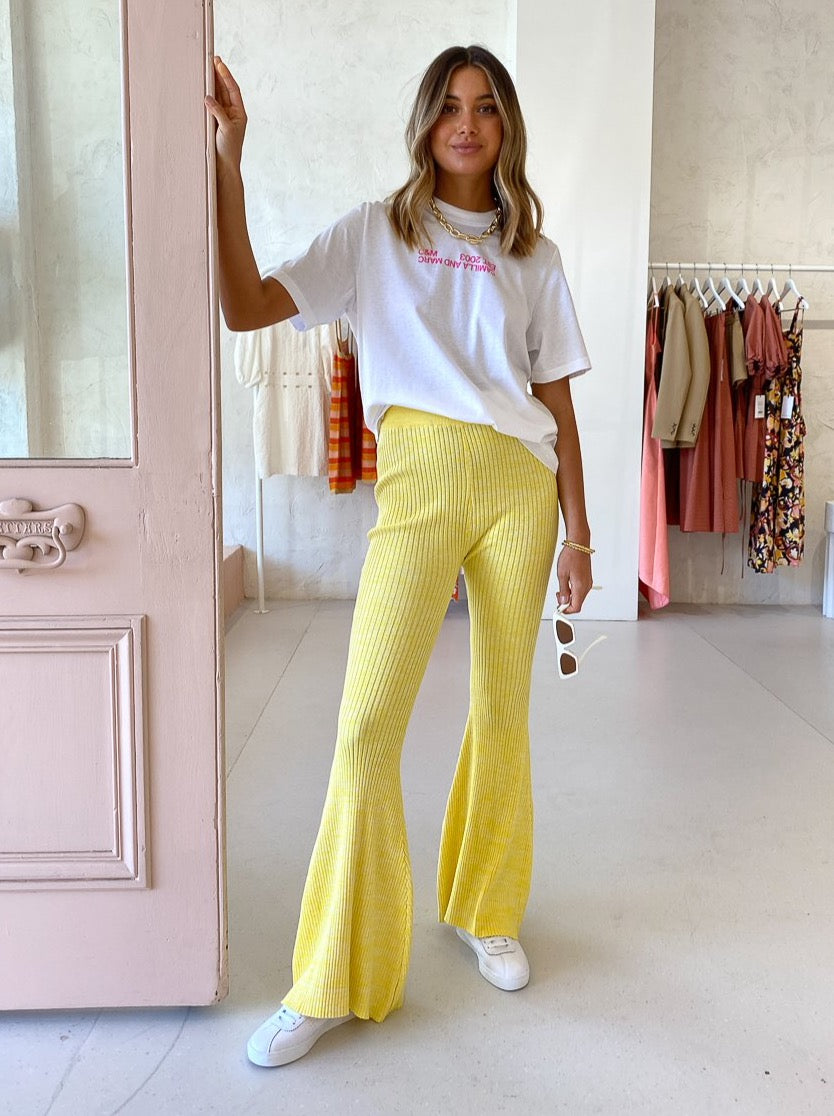 Anna Quan Gerrie Pants in Limoncello