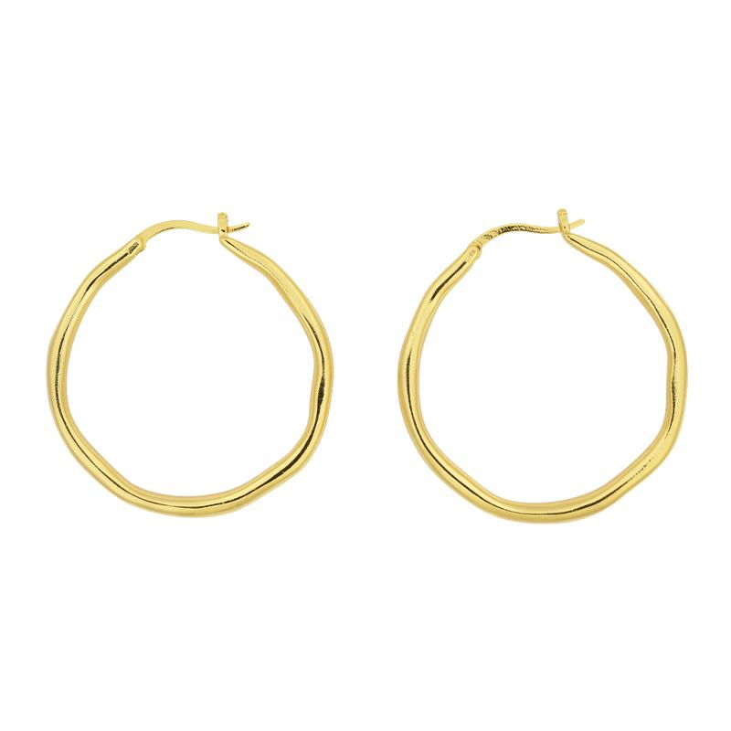 Brie Leon Organica Large Hoop Earrings in Gold