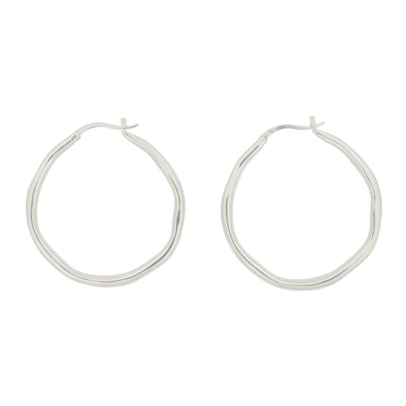 Brie Leon Organica Large Hoops in Silver