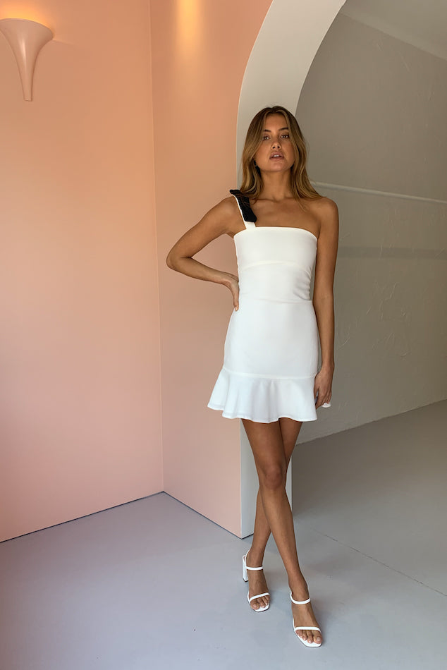By Nicola Printemps Mini Dress in White