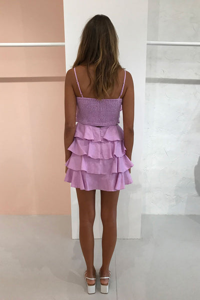 By Nicola Holiday Skirt in Violet