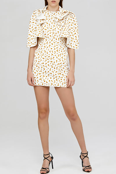 Acler Bates Dress in Eggshell Ditsy