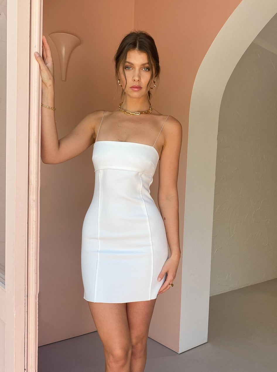 Bec & Bridge Pearl Mini Dress in Ivory