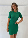 Bec & Bridge Lemon Squeezy Mini Dress in Bottle Green