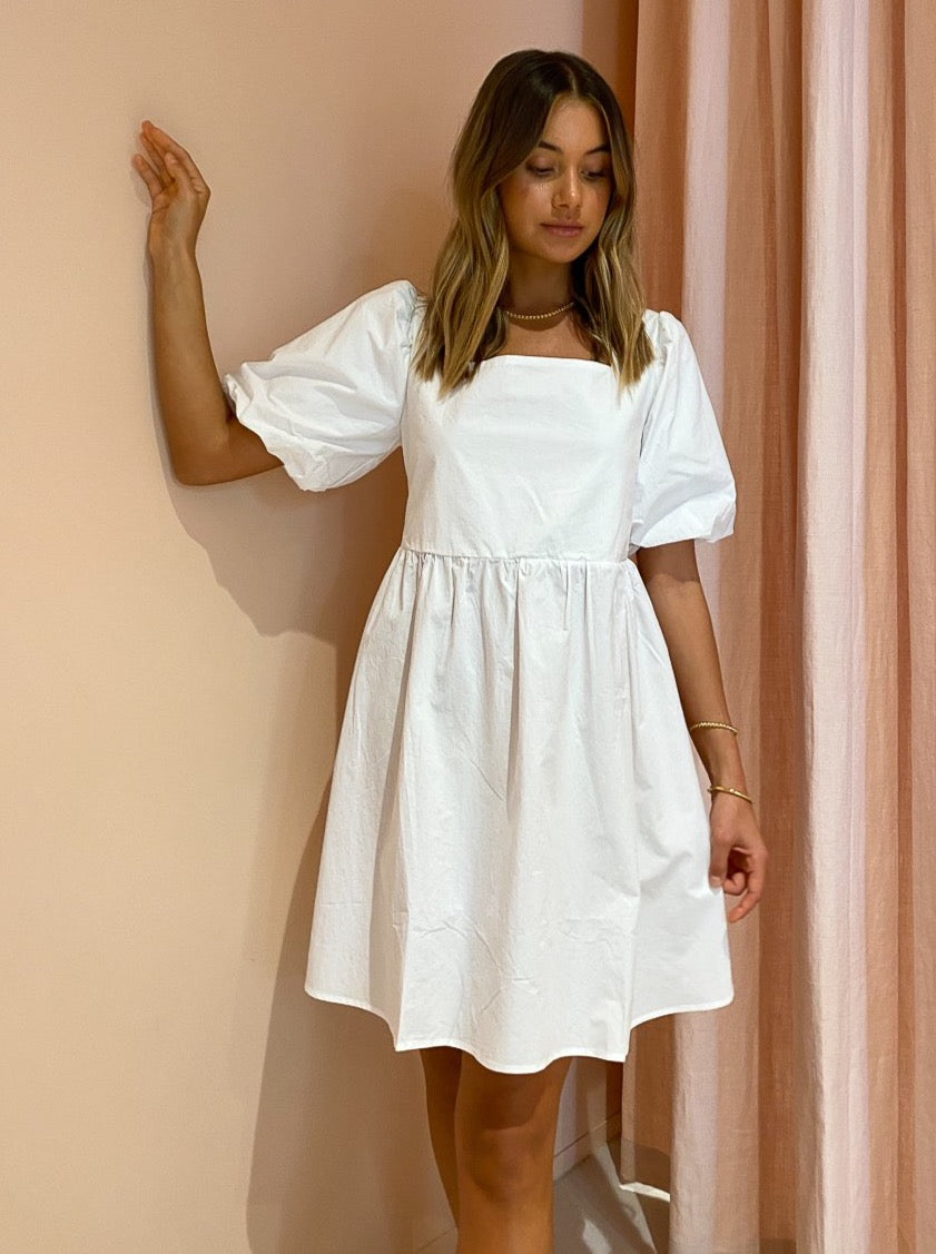 Blanca Fiona Mini Dress in White