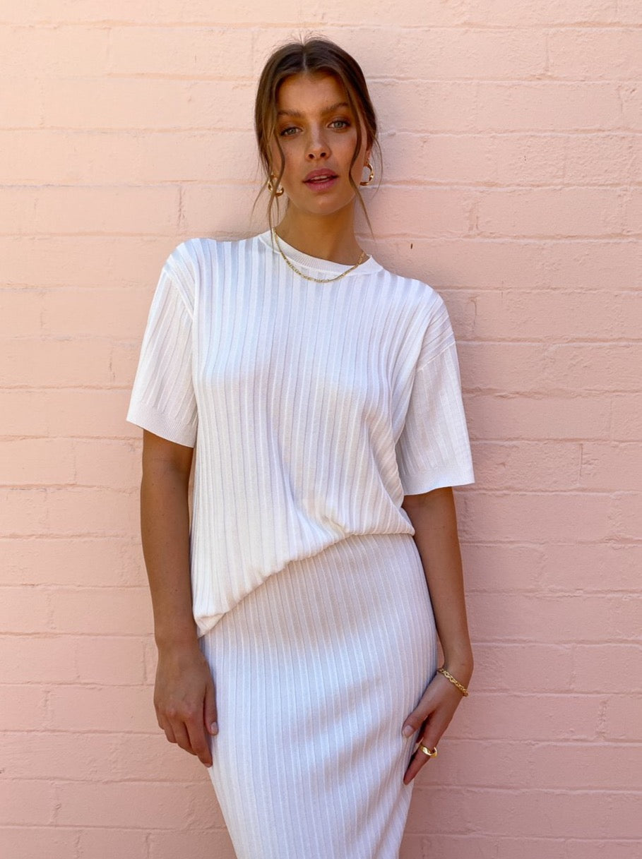 By Johnny Anthem Knit Top in Ivory