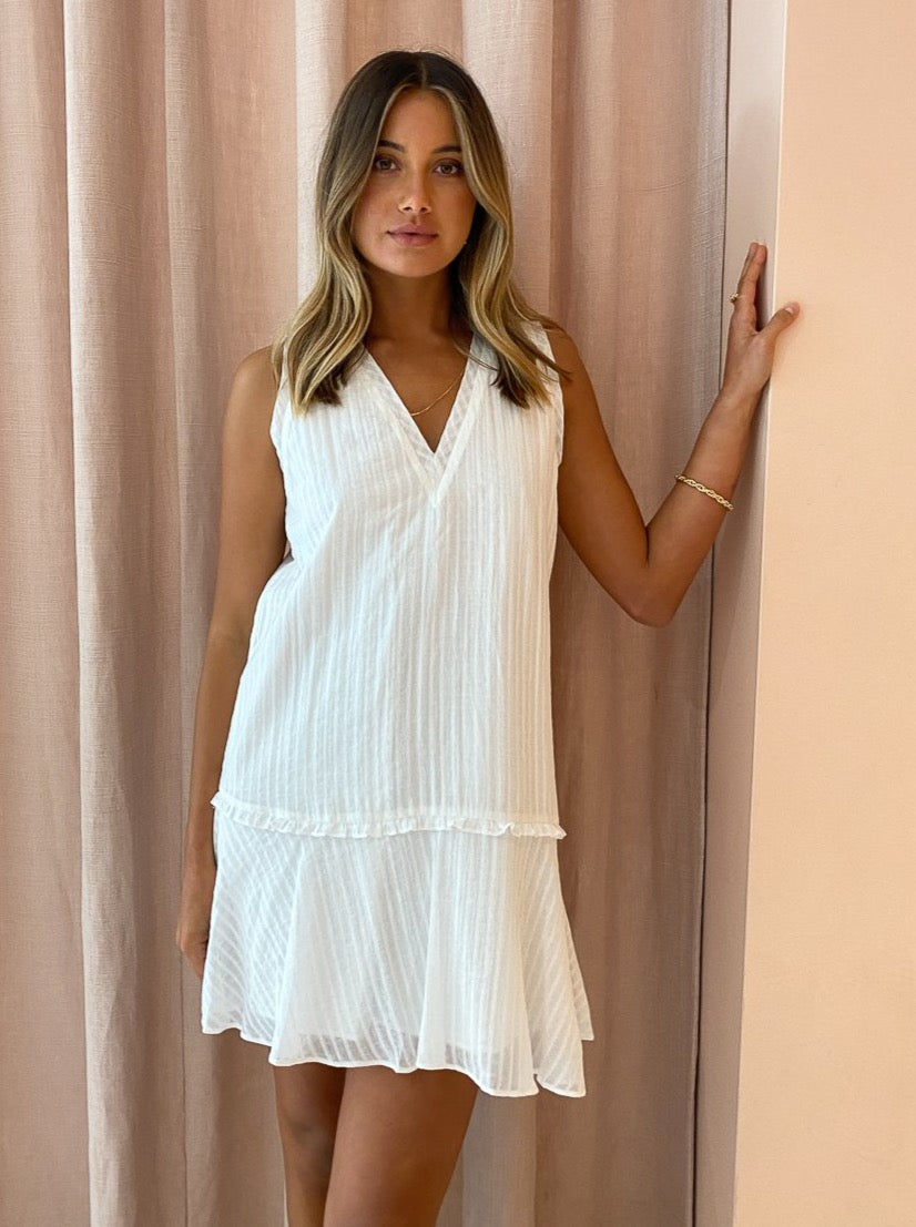 By Nicola Danse Tank Shift Dress in White